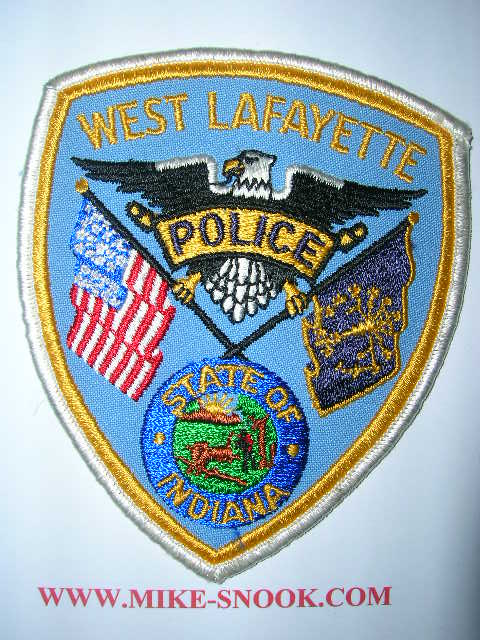 Mike Snook's Police Patch Collection - State of Indiana