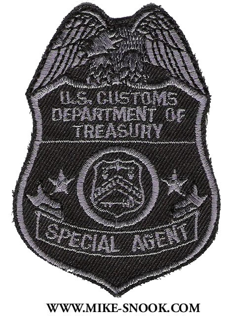 Customs department of treasury special agent badge patch